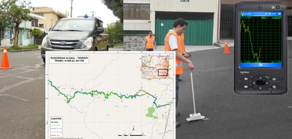 Equipos para medir rugosidad de pavimento